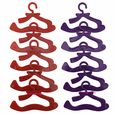 20 x Bowknot Hangers For Barbie Doll Clothes Dress Wardrobe AccessoriesKid Toy A
