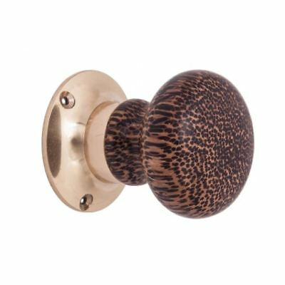 Pair of Brown And Black Spotted Designer Door Knobs
