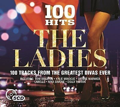 100 Greatest Hits ~ The Ladies 5CD Bonnie Tyler,Aretha Franklin, Dolly Parton +
