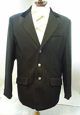 Equi-Theme Gents Show Jacket With Velvet Collar Available In Black Or Grey