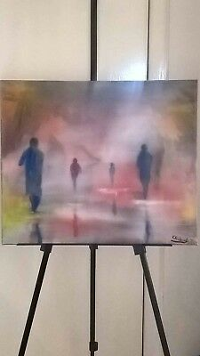 """Original abstract oil painting on canvas 24""""x20"""" from the artist Kevin Richards"""