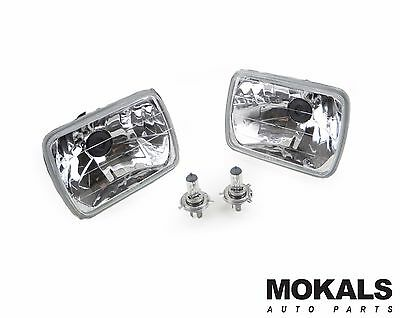 clear Multi Reflective insert headlights with globes for Toyota hilux 1983-2005