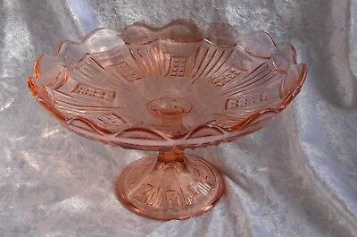 Large Size Rosalin Pink Crown Crystal Waffle & Comb Comport