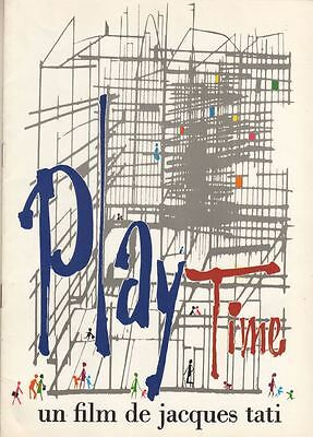 "Jacques Tati  ""Playtime""  FRENCH  Souvenir Program  1967  Film Francais"
