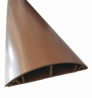 Brown Floor Cable Channel 1M Self Adhesive 120mm wide