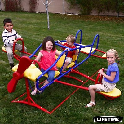 Lifetime Ace Flyer Airplane Teeter Totter See Saw Outdoor Garden Equipment New