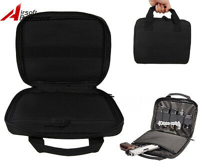 """12"""" Tactical Padded Hand Gun Pistol Magazine Carry Case Bag Pouch Military Black"""