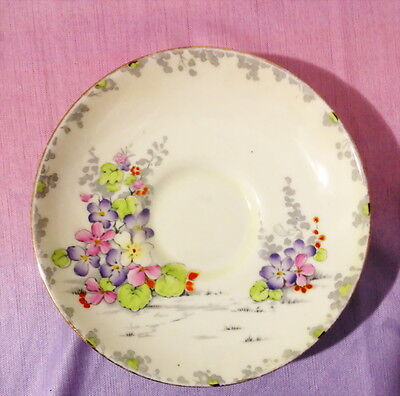 ♡  PARAGON HN 92581 SAUCER VIOLET FLOWERS many more instore