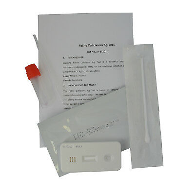 Feline Calicivirus Infection Test Kit Cat FCV Mouth or Nasal Swab Testing Pack