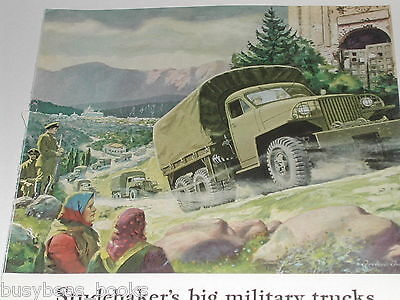 1943 STUDEBAKER advertisement, War 6x6 truck production, WWII, Flying Fortress