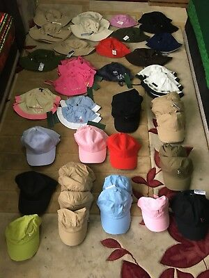 Clearance Joblot 72 Baseball Caps Hats Men Kids Childrens Baby Boys Girls Bnwt