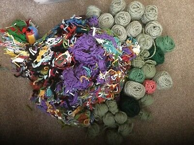 2.4kg mixed joblot Assorted Non - wool rug making yarn