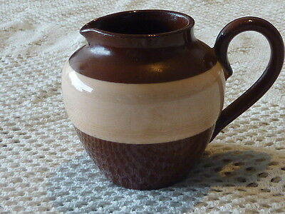 Small Brown And Pink Jug No Makers Mark