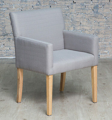 Contemporary Grey Armchair Accent Chair Living Room Bedroom Occassional