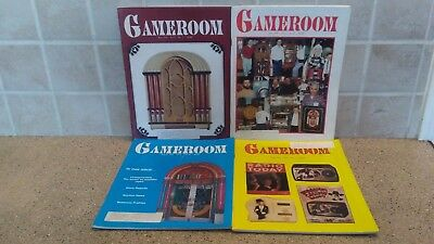 Lot of (4) 1991 Game Room Magazines