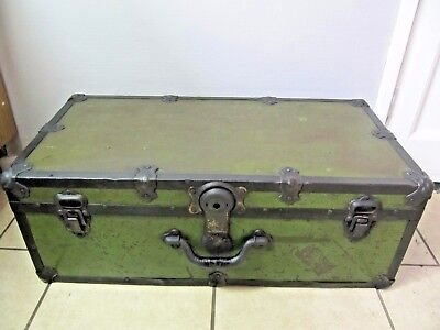 Industrial Retro Table Trunk Vintage Workman's Tools Chest