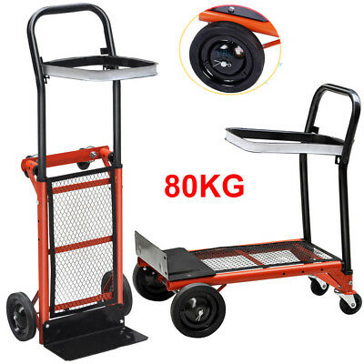 Multi-purpose Hand Sack Trolley Truck Industrial Warehouse Heavy Duty Cart 176LB