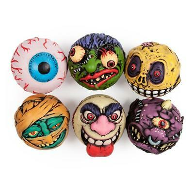 "Kidrobot x MADBALLS 4"" FOAM TOY FIGURE LOT retro/vintage style Mad Balls UK"