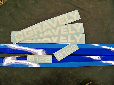 Gravely Model 8122--8163B--8162-816Kt Tractor Decal Set