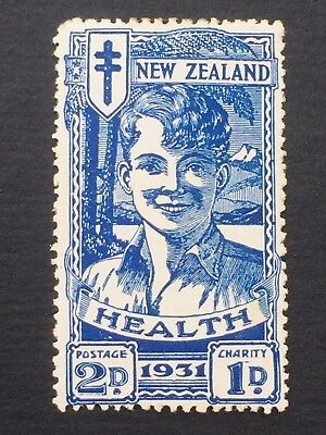 NEW ZEALAND, 1931 SMILING BOYS HEALTH STAMP,  Blue, Mint Mounted