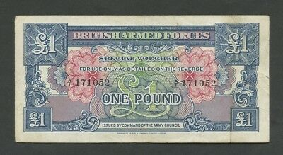 BRITISH ARMED FORCES - £1  1946-8  1st Issue  (Krause.M15)  VF  ( Banknotes )