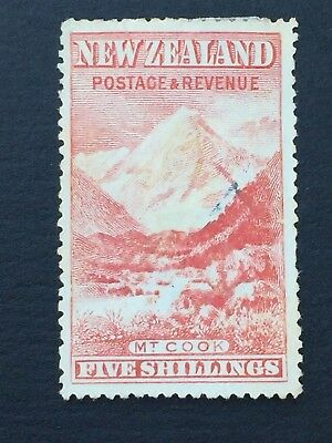 NEW ZEALAND, 1898+ PICTORIALS, 5/- Mt Cook, Fine Used