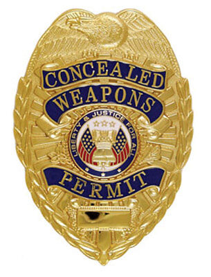 GOLD CONCEALED CARRY PERMIT CCW BADGE For CWP Permit Badge ONLY!