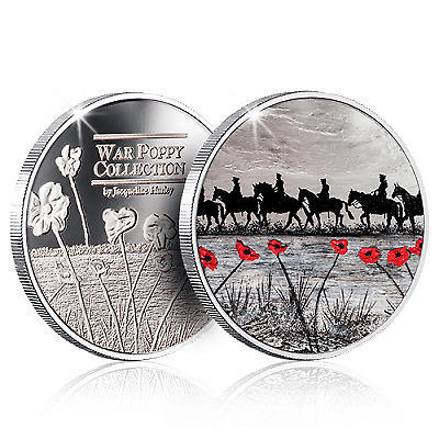 The War Poppy Collection Coin / Medal - For Heroes and Horses