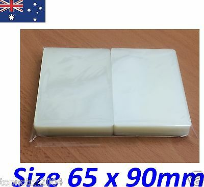 100 x LAMINATING POUCHES SHEETS BUSINESS ID CARD SIZE 65mm x 90mm 150 MICRON GST