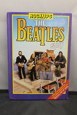 Rare Vintage 1985 Rockups The Beatles Story Pop-Up Book