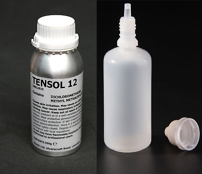 TENSOL 12 50ml, Bonding Glue Adhesive Cement for Acrylic / Perspex / PETG
