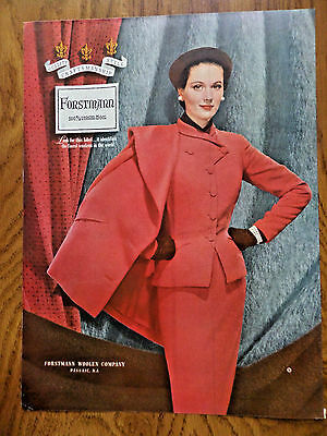 1953 Forstmann 100% Virgin Wool Fashion Ad