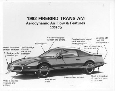 1982 Pontiac Firebird Trans Am Specifications ORIGINAL Factory Photo oub8579