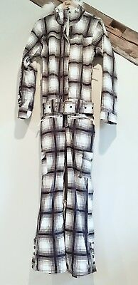 One-Piece Roxy Woman's Lined Ski/Snow Suit Size Medium Belted with Faux Fur Trim