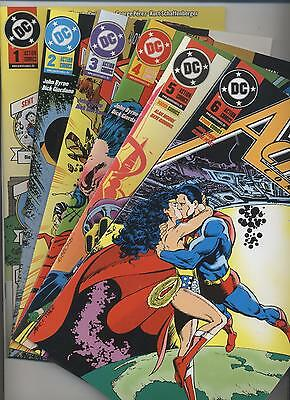 ACTION COMICS (deutsch) # 1+2+3+4+5+6 KOMPLETT - SUPERMAN - PANINI 2001 - TOP
