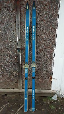 Vintage Wooden HICKORY ASNES TUR-MODELL CROSS COUNTRY SKIS  185