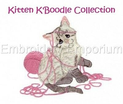 Kitten K'boodle Collection - Machine Embroidery Designs On Cd