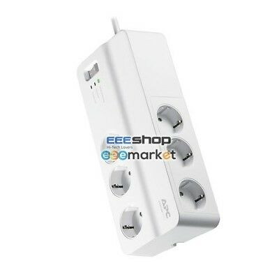 APC PM6-GR 6AC outlet(s) 230V 2m White surge protector 6 x CEE 7 Schuko O PM6-GR