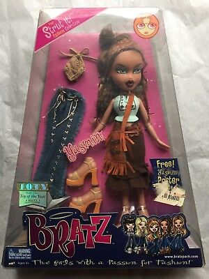 BRATZ GIRL Yasmin CHIC DOLL Barbie Toy of the year award 2002  extra outfit  New