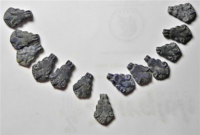 Zurqieh - Af1660- Ancient Egypt , Wonderful Group Of Lapis Lotus Amulets. 1400