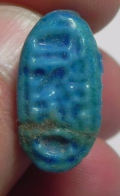 ZURQIEH -AF2452- 18th DYNASTY ANCIENT FAIENCE RING, KING TUT'S NAME, 14TH CE.B.C