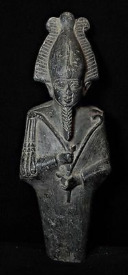 Zurqieh - Ancient Egypt, Beautiful Schest Stone Osiris. 600 - 65 B.c