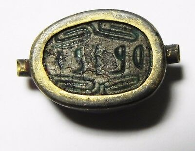ZURQIEH -asw25- ANCIENT EGYPT , STEATITE SCARAB , 2ND INTERMEDIATE PERIOD