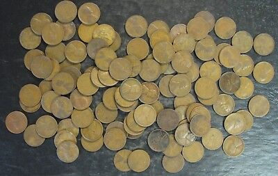 100 (2 rolls) pre-1933 Wheat Back Cents Coin Collection - No Reserve