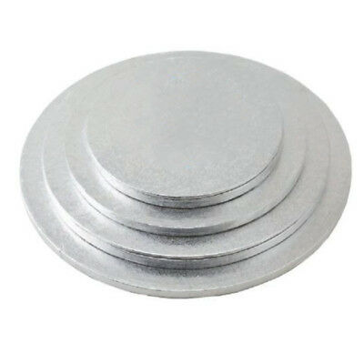 Cake Sugarcraft Boards Wedding Decorating Drum Board 5mm Thick Silver 6-16'' 1pc