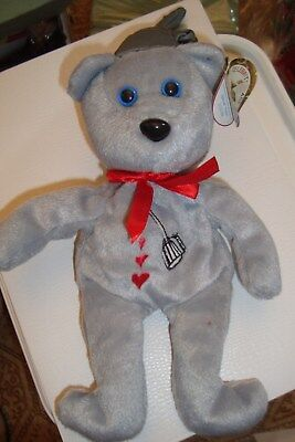 Celebrity Bears Wizard of Oz Plush Gray Tin Man 1/31/99 Tag in Ear