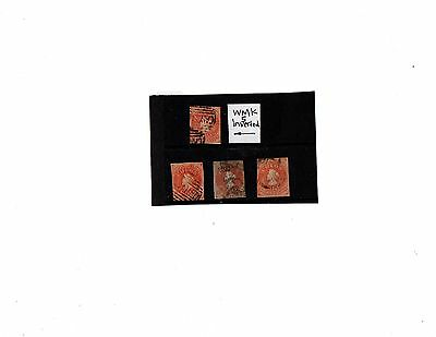 chile stamps 5c shades wmk 5 used