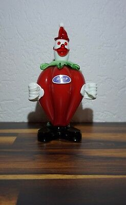 JOSKA CRYSTAL KRISTALL Murano Clown Glasfigur