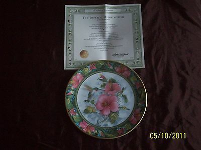 Royal Doulton Plate - The Imperial Hummingbird