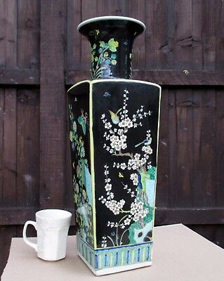 Very LARGE PERFECT Chinese VASE prob REPUBLIC PERIOD Famille noir